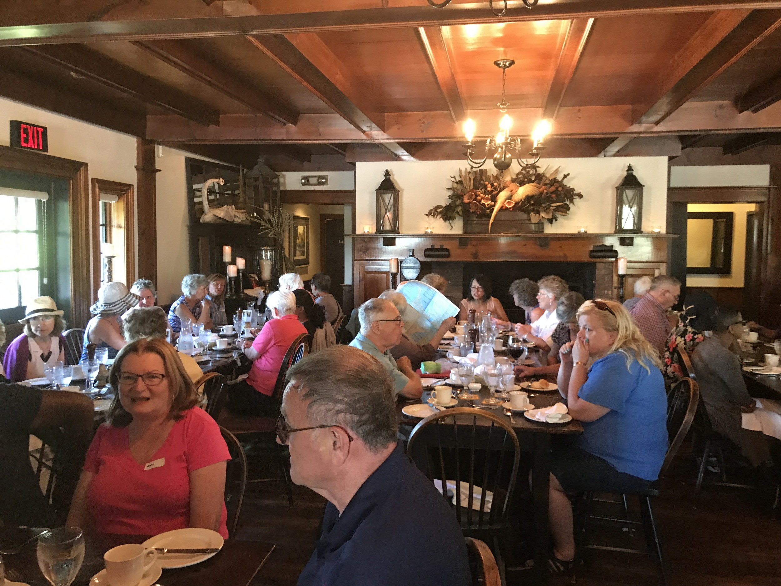 phs 2018 bus tour lunch at Mrs Mitchells